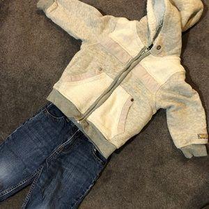 Sz 3T Bys Naartjie hoodie and 3T Osh Kosh Jeans